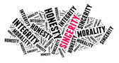 Sincerity in word cloud — Foto Stock