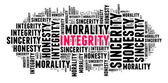 Integrity in word cloud — Stock Photo
