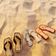 Different sandals — Stock Photo