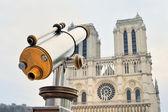 Telescope and church — Stock Photo