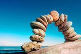 Curva de guijarros — Foto de Stock
