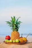 Petit déjeuner sur la plage — Photo