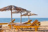 Beach umbrellas — Stock Photo