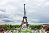 Panorama Eiffel tower — Stock Photo