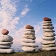Red stone on the top — Stock Photo