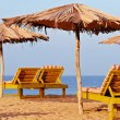 Deckchair beach — Stock Photo