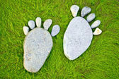 Stone footprints — Stock Photo
