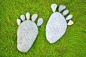Stone footprints — Stockfoto