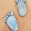 Stone's feet — Stock Photo
