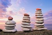 Piles of pebbles — Stock Photo