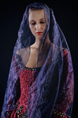 Lady in veil — Stock Photo