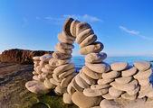 Bend of pebbles — Stok fotoğraf