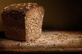 Bread on the wood — Stock Photo