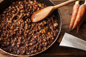 Stew in a pan — Stock Photo