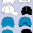 Stock Vector: Baseball caps