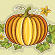 Pumpkin yellow fresh illustration isolated for design - 图库矢量图片