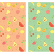 Stock Vector: Fruits seamless pattern.Vector color illustration