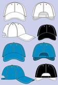 Baseball caps — Stock Vector