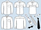 Człowiek koszule i neckties.fashion ubrania — Wektor stockowy