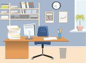 Interior office room.Vector illustration — Stock Vector