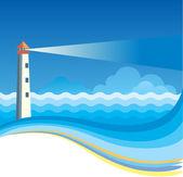 Latarnia morska tło — Wektor stockowy