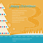 Christmas background.Vector illustration — Stock Vector