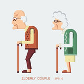 Elderly people — Stock Vector