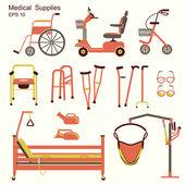 медицинский госпиталь оборудование для людей с ограниченными возможностями — Cтоковый вектор