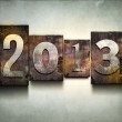 Year 2013 letterpress. — Stock Photo #22812200
