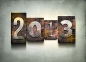 Year 2013 letterpress. — Stock Photo