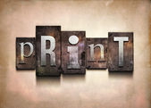 Print letterpress. — Stock Photo