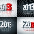 2013 Happy New Year Set — Stock Vector