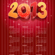 Royalty-Free Stock Vector Image: 2013 calendar