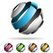 3d abstract design elements 1 — Stock Vector #22812286