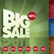 3d retro Big Sale - Stock Vector