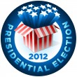 Presidential Election Badge — Stock Vector