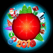 Christmas Globe 2010 — Stock Vector