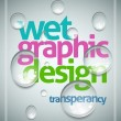 Wet poster template. - Stock Vector