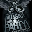 Forever Music Forever Party! — Stock Vector