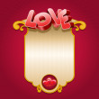 Royalty-Free Stock Imagem Vetorial: Love card