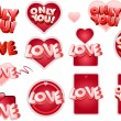 Stock Vector: LOVE tag set
