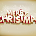 Merry Christmas 3D — Stock Vector