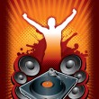 DJ party — Stock Vector
