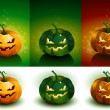 Halloween Pumpkin set — Vector de stock