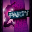 Party Poster Template — Stock Vector