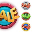 Sale set 3d — Stock Vector