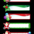 Christmas banner set - Stock Vector