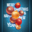 Royalty-Free Stock Vektorfiler: Christmas and New Year Poster Design