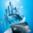 Royalty-Free Stock Vector Image: World credit card.