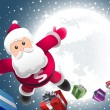 Super Santa is coming! — Vector de stock